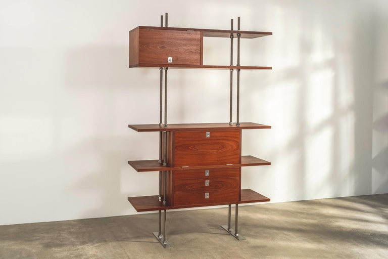 Designed by Lord Snowdon in the 1960s and manufactured in 2011, this one-off cabinet has remarkable provenance.   The revered British photographer and filmmaker, who married Princess Margaret, the sister of Queen Elizabeth II, was also a talented