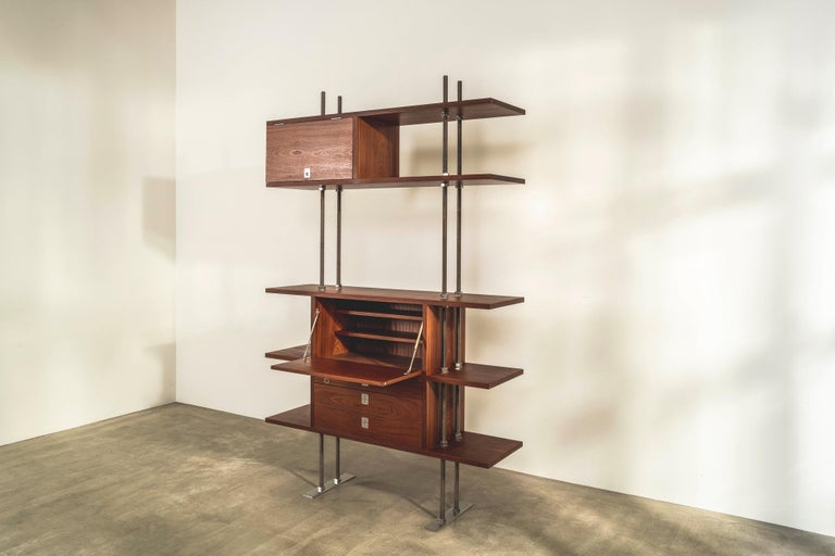 Modern Important and Unique Mahogany Cabinet by Lord Snowdon and Sir Terence Conran For Sale
