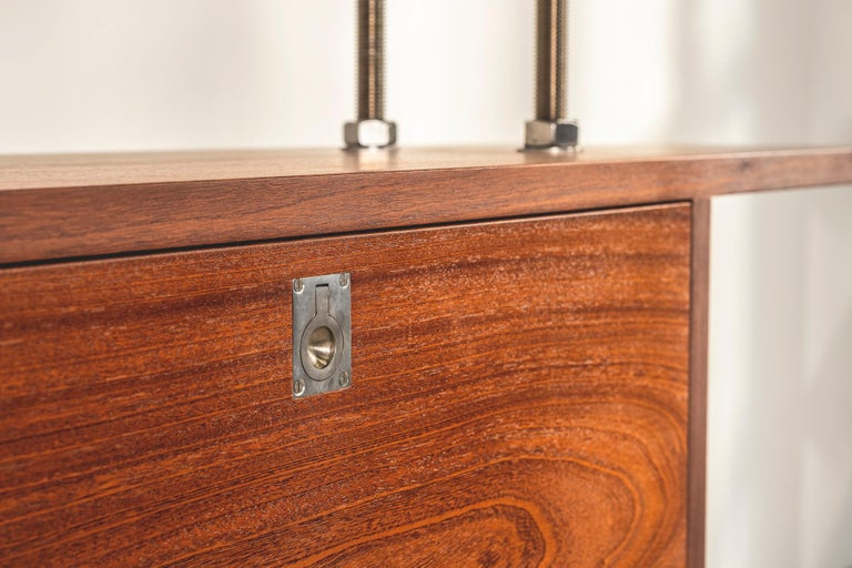 Stainless Steel Important and Unique Mahogany Cabinet by Lord Snowdon and Sir Terence Conran For Sale