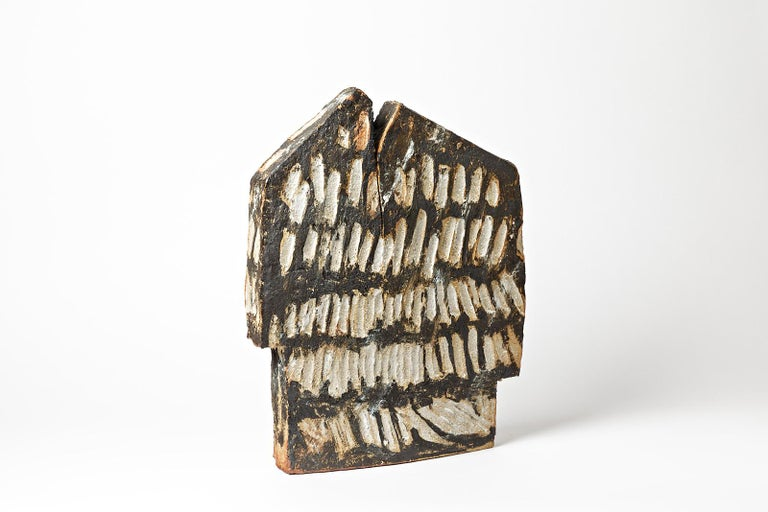 Contemporary Important Architectural Ceramic Sculpture by F Marechal La Borne French Sculptor For Sale