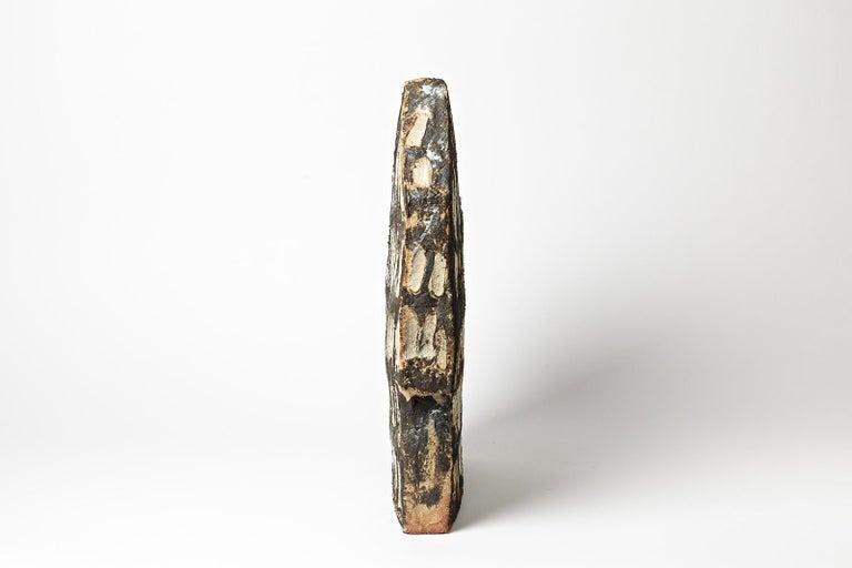 Pottery Important Architectural Ceramic Sculpture by F Marechal La Borne French Sculptor For Sale