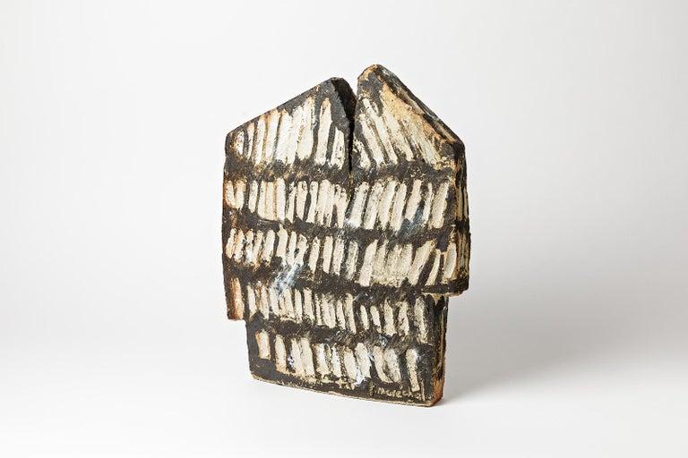 Important Architectural Ceramic Sculpture by F Marechal La Borne French Sculptor For Sale 2