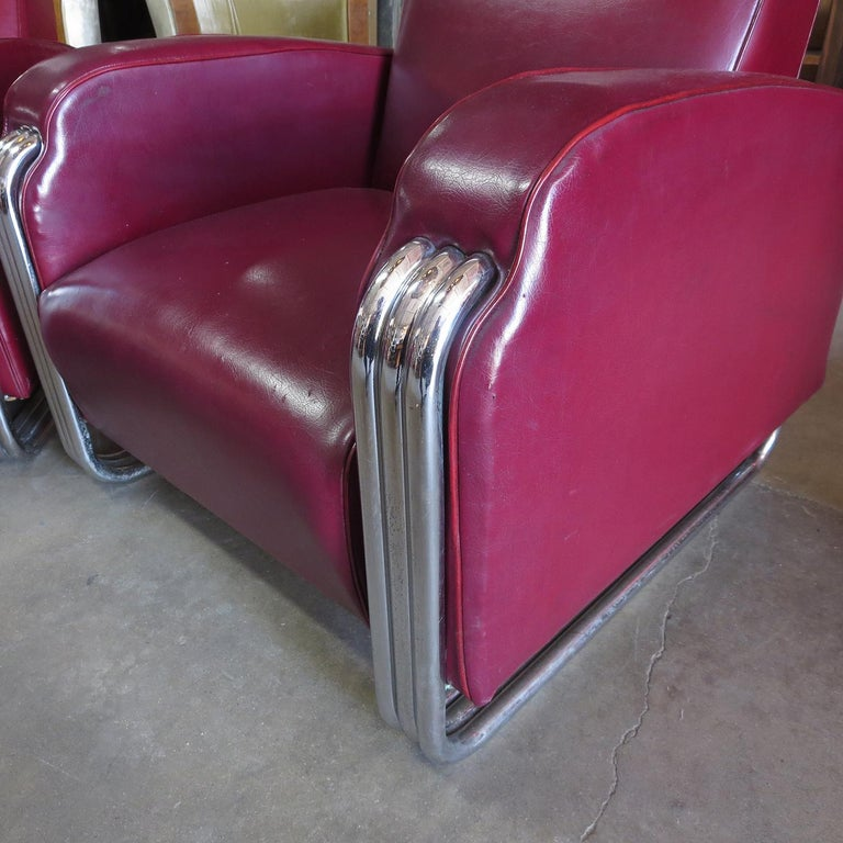 Important Art Deco Sofa Set by KEM Weber for Lloyd Furniture In Good Condition For Sale In North Hollywood, CA