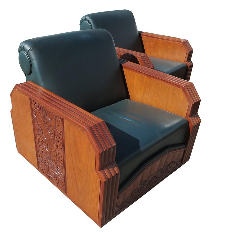 American Important Art Deco Sofa Set from Hollywood Pantages Theater For Sale