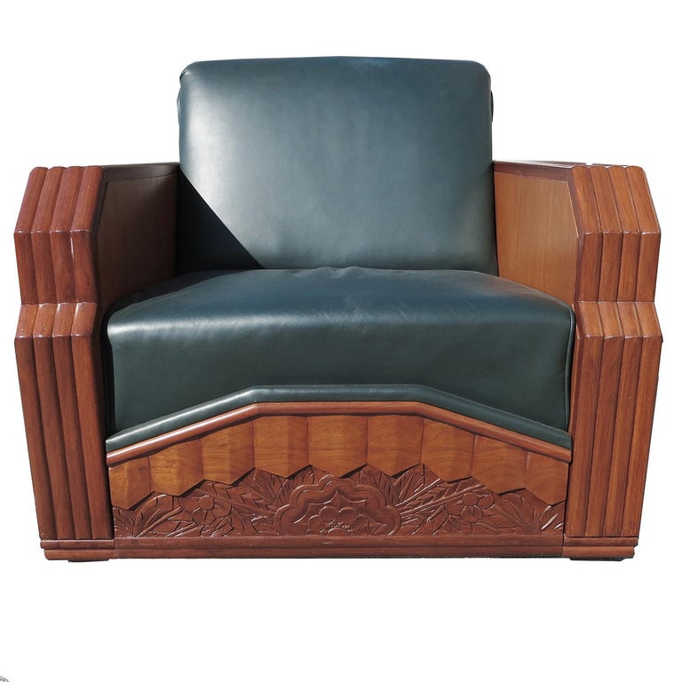 Important Art Deco Sofa Set from Hollywood Pantages Theater In Good Condition For Sale In North Hollywood, CA