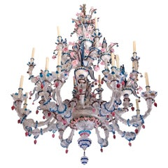 Important Barovier & Toso Rezzonico Chandelier 20 Arms in the Style of Briati
