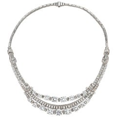 Important Boucheron Vintage Diamond Swag Necklace