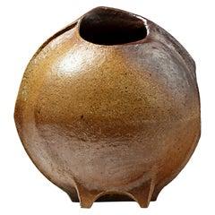 Important Brown Stoneware Ceramic Vase, La Borne, circa 1976
