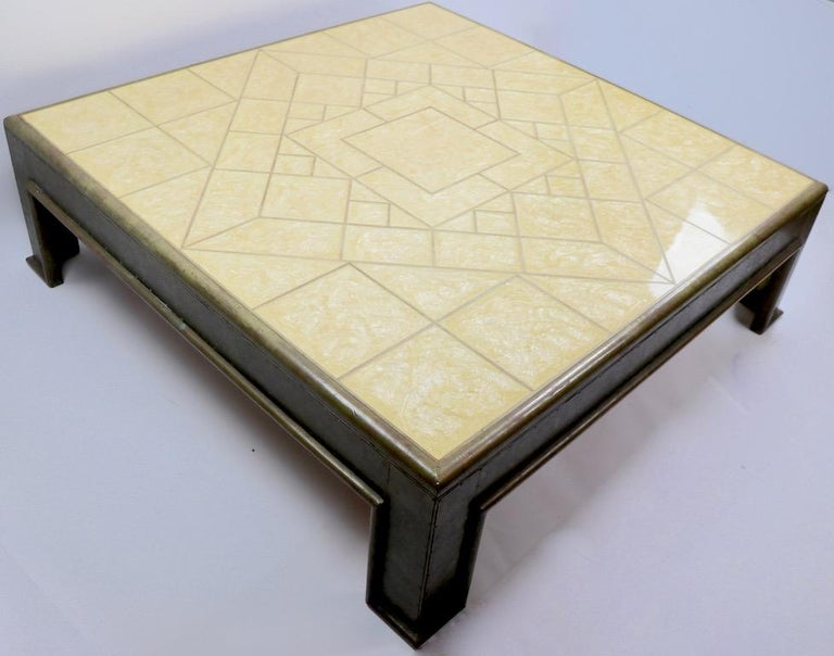 Important Brutalist Coffee Table by Rodolfo Dubarry For Sale 7