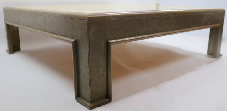 Important Brutalist Coffee Table by Rodolfo Dubarry For Sale 8