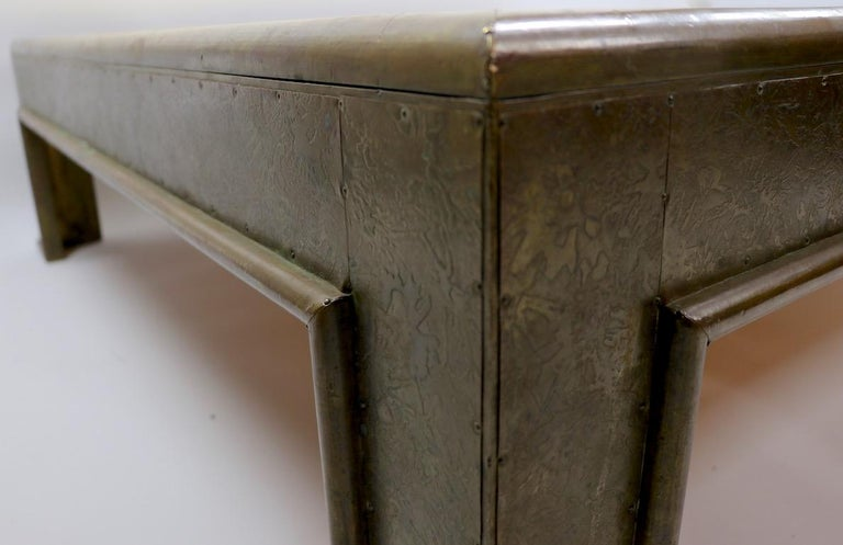 Important Brutalist Coffee Table by Rodolfo Dubarry For Sale 9