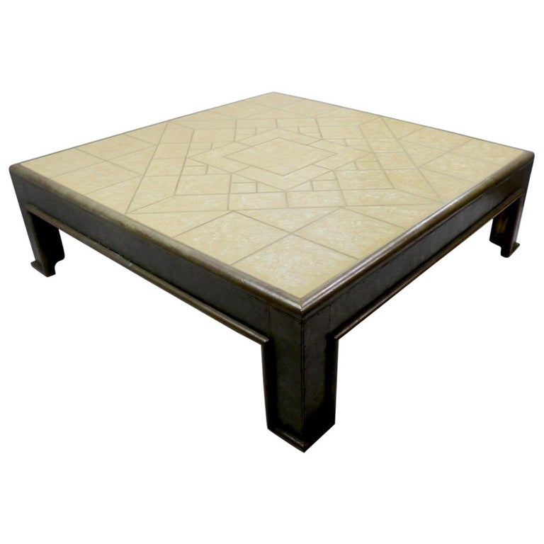 Important Brutalist Coffee Table by Rodolfo Dubarry For Sale