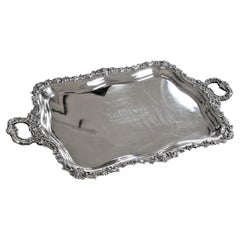 Important Canadian Adam Buck Large Sterling Silver Presentation Serving Tray
