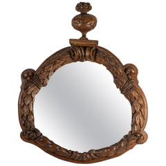 Important Carved Walnut Mirror