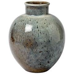 Important Ceramic Vase by François Eve, circa 1980-1990