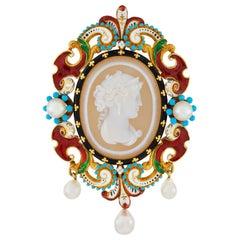 Important Charles Duron Renaissance Revival Brooch