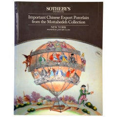 Important Chinese Export Porcelain Mottahedeh Collection Auction Catalog, 1985