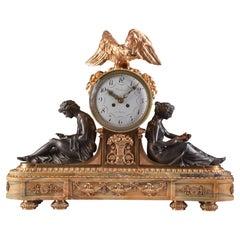 """Important Clock """"A L'ETUDE ET A LA PHILOSOPHIE"""", Napoleon III"""