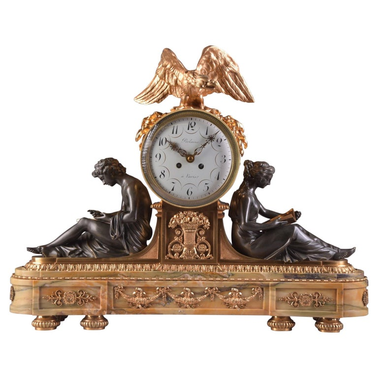 "Important Clock ""A L'ETUDE ET A LA PHILOSOPHIE"", Napoleon III For Sale"