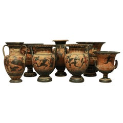 Important Collection of Grand Tour Greek Krater Vases