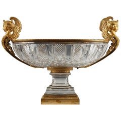 Important Crystal Goblet Attributed to Baccarat