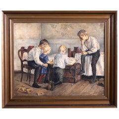 "Important Danish Interior Painting, Charlotte Frimodt Signed ""Ch. Frimodt 1894"""