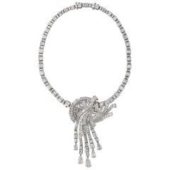 Important Diamond Cascade Necklace