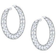 Important Diamond Hoop Earrings