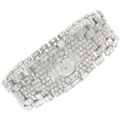 Important Diamond Platinum Bracelet, 1960s