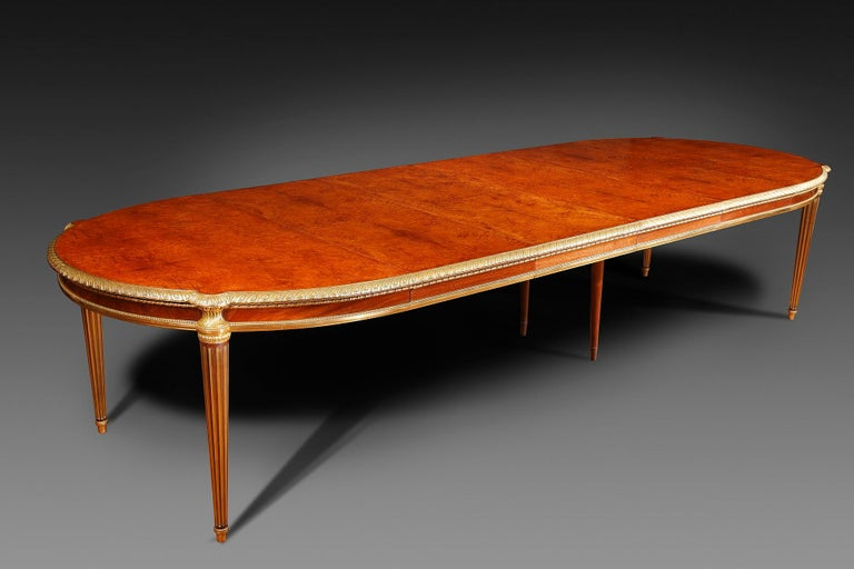 Louis XVI Important Dining Room Set by Mercier Frères For Sale
