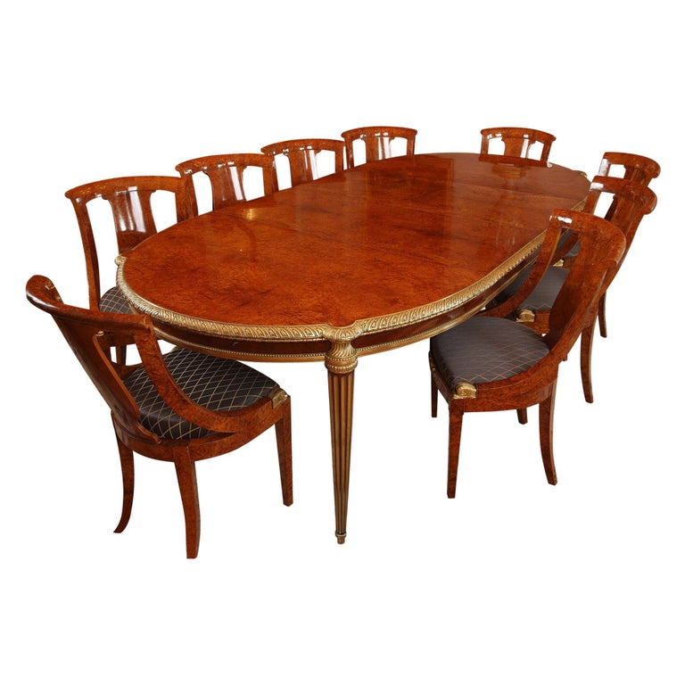 Important Dining Room Set by Mercier Frères For Sale