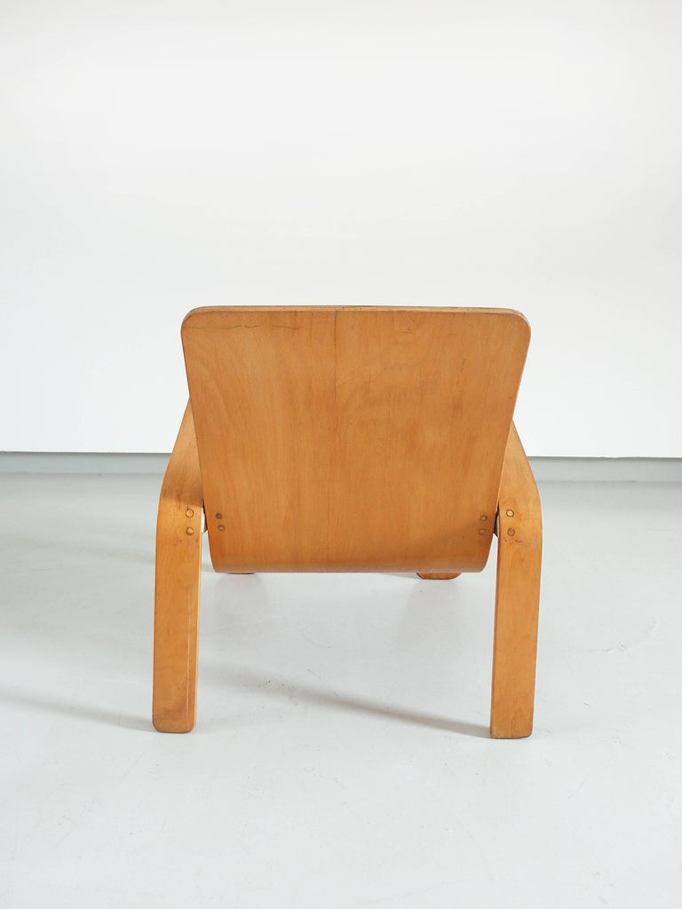 Important Dutch Modernist Lawo Lounge Chair by Han Pieck for Lawo Ommen, 1946 For Sale 5
