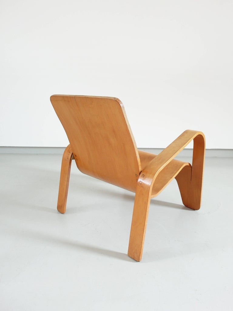 Important Dutch Modernist Lawo Lounge Chair by Han Pieck for Lawo Ommen, 1946 For Sale 6