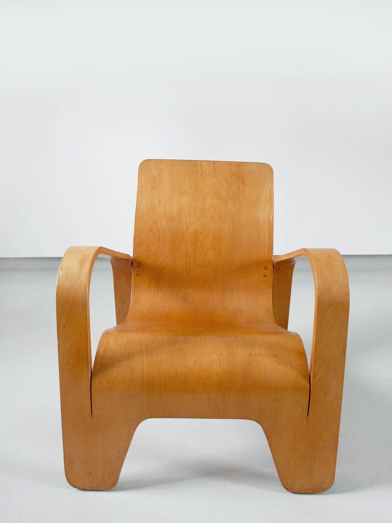 Important Dutch Modernist Lawo Lounge Chair by Han Pieck for Lawo Ommen, 1946 For Sale 2