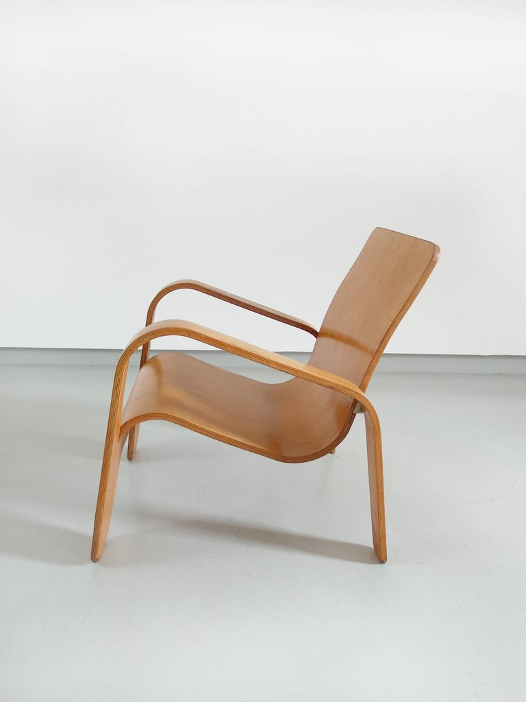 Important Dutch Modernist Lawo Lounge Chair by Han Pieck for Lawo Ommen, 1946 For Sale 3