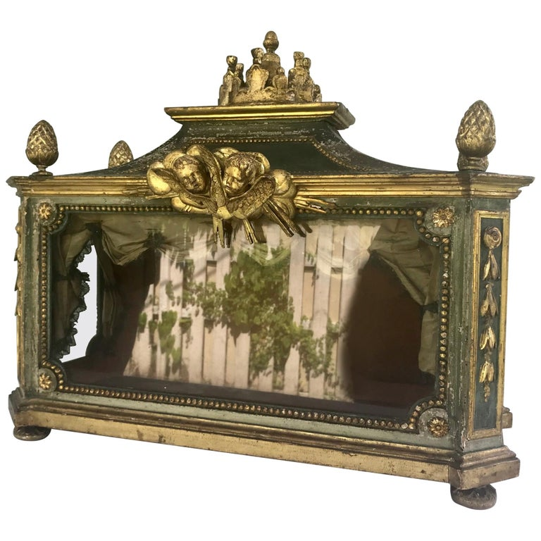 Important Early 18th Century Italian Baroque Reliquary Casket For Sale