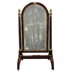 Important Early 19th Century French Empire Dressing Mirror