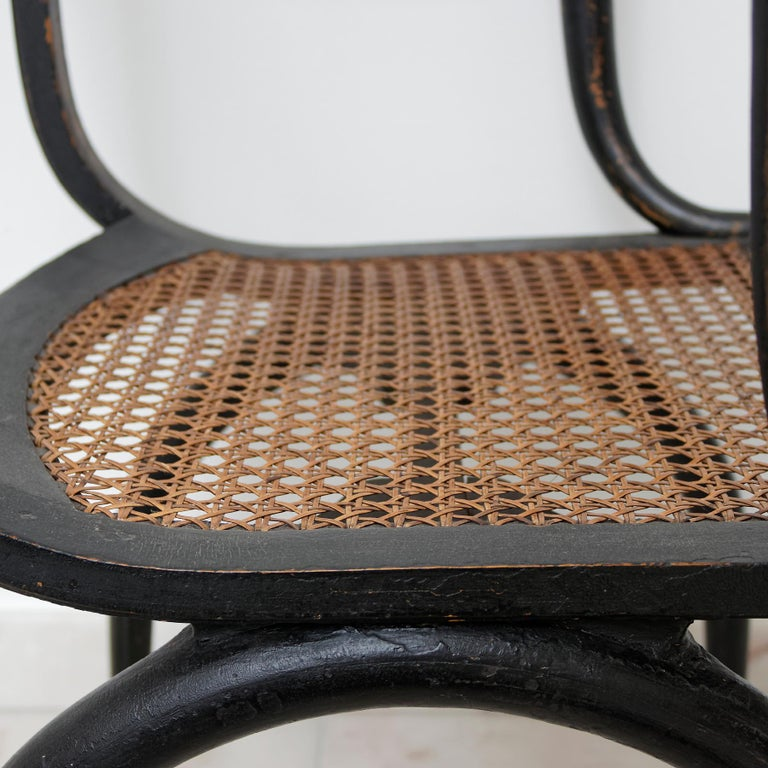Cane Important Empire Early 19th Century Fauteuil by Jean-Joseph Chapuis For Sale