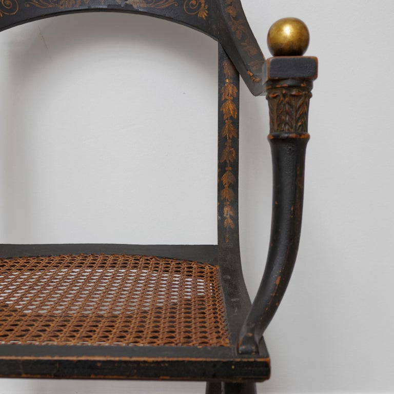 Important Empire Early 19th Century Fauteuil by Jean-Joseph Chapuis For Sale 1