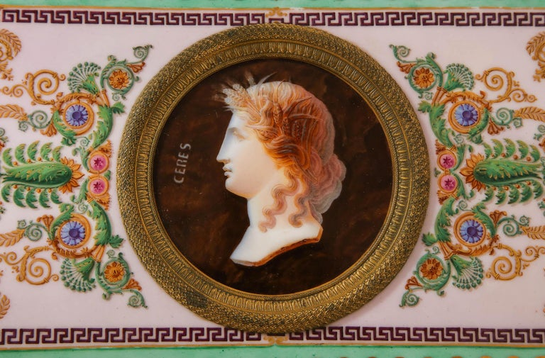 Important Empire Period Paris Porcelain & Ormolu-Mounted Casket/Box/Jewelry Box In Good Condition For Sale In New York, NY