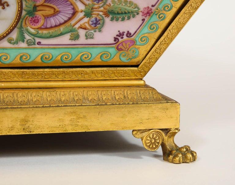 Important Empire Period Paris Porcelain & Ormolu-Mounted Casket/Box/Jewelry Box For Sale 1