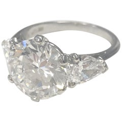Important Engagement Ring, Signed Cartier circa 1990 for Private Sale