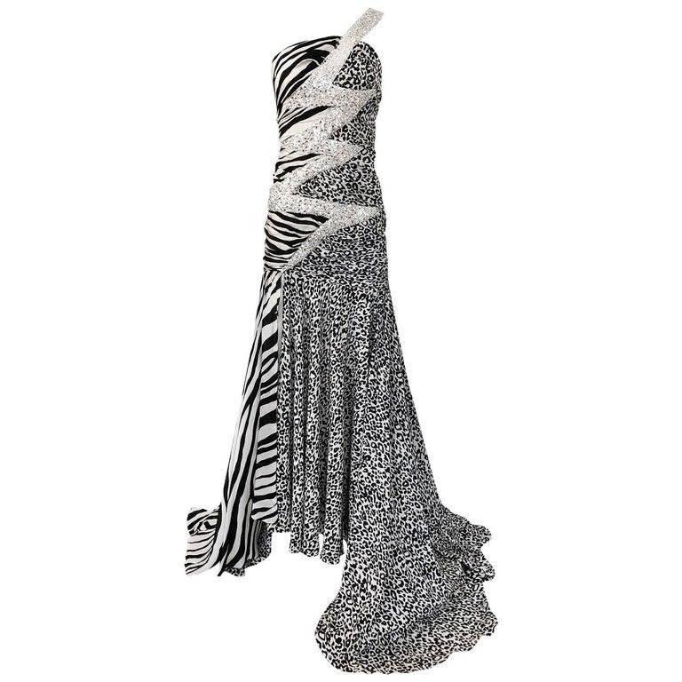 Important F/W 2008 Balmain by Christophe Decarnin Runway Finale Dress For Sale