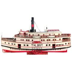 "6.5 Feet Long Folk-Art Model of a Riverboat, ""Talbot"""