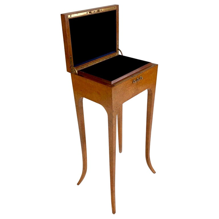 Important Art Deco Jewellery Box on Legs, France, circa 1930s For Sale