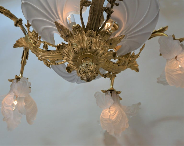 Important French Gilt Bronze Chandelier, Early 20th Century by E. Mottheau For Sale 7