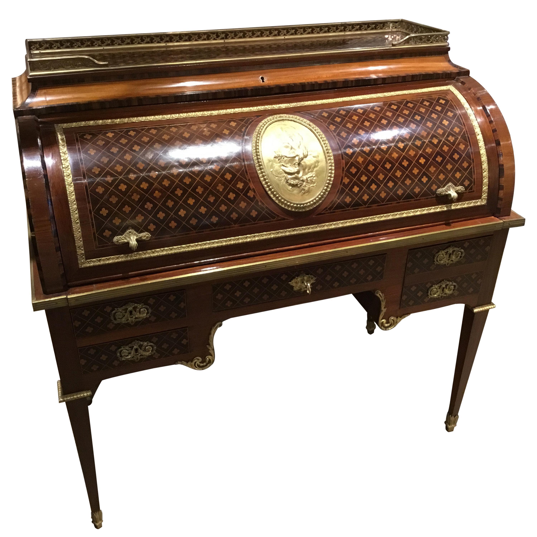 Important French Louis XVI Cylinder Desk, circa 1825