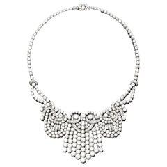 Important Ghiso Diamond Fringe Necklace, circa 1930s