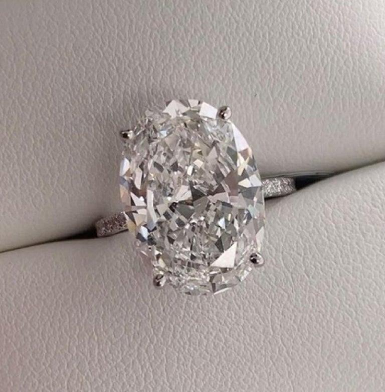 Oval Cut IMPORTANT GIA Certified 10.50 Carat Oval Diamond Engagement Ring F VS2 For Sale