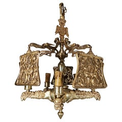 Important Gilded Bronze Lamp of the 19th Century